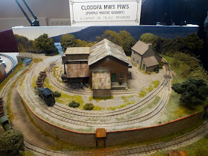 "Photo: 130 Geoff Broadhurst's latest small ""roundy"" layout is more complex than Pig Dyke Farm on approximately the same sized base, but still retains an atmosphere of spaciousness and very realistically presented scenic work ."