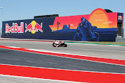A rider navigates the turn during warm ups before the MotoGP at Circuit of The Americas on April 14, 2019 in Austin, Texas.