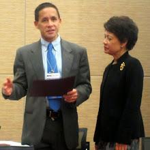 Photo: Dr. Kawika Liu & Dr. Luceli Cuasay, Immediate Past Program Chair