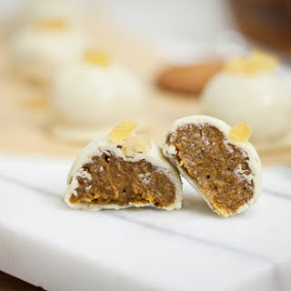 White Chocolate Pumpkin Gingersnap Truffles Recipe
