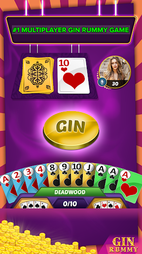 Gin Rummy Multiplayer  captures d'écran 2