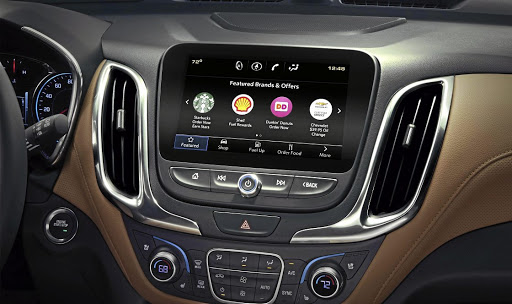 GM's Marketplace allows customers in the US to pre-order coffee, fuel and even doughnuts. Picture: GENERAL MOTORS