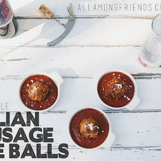 Italian Sausage Brown Rice Balls and Quick Tomato Sauce