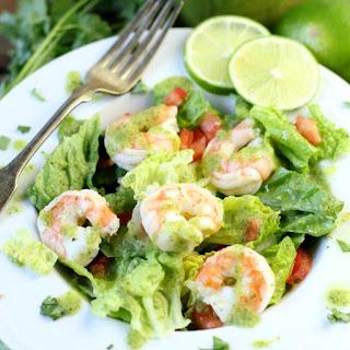 Avocado Cilantro Lime Shrimp Salad.