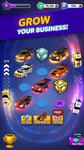 Merge Neon Car: Car Merger 1.0.97 screenshots 11