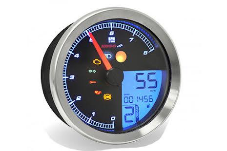 KOSO Tachometer / Tachometer for Yamaha XV950 / Bolt / Yamaha SCR950 with chrome ring, with ABE
