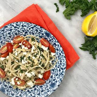 Kale, Chicken & Hummus Spaghetti.