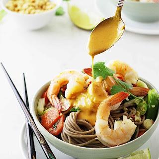 Soba Noodles, Shrimp and Spicy Peanut Sauce Recipe