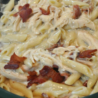Smothered Bacon Ranch Chicken Penne Pasta