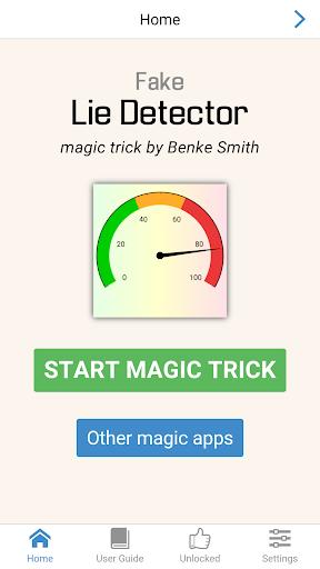 Fake Lie Detector magic trick