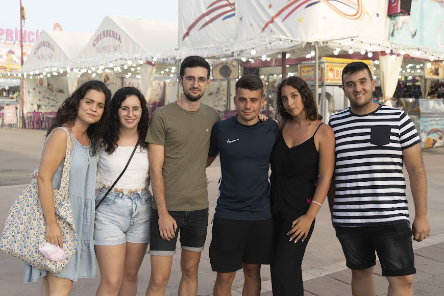 Fran, Patricia, David, Andreu, Lydia y Belén, de Valencia