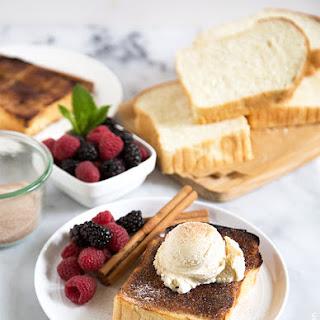 Cinnamon Sugar Milk Bread Toast.