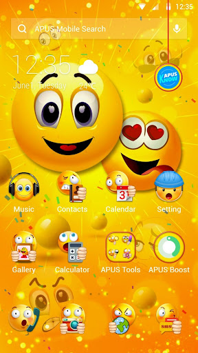 Funny Emoji APUS Launcher theme 1 1