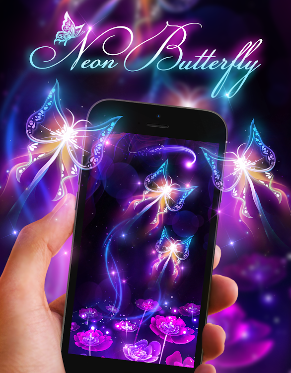 Fluorescent Butterfly Live Wallpaper Android Aplicaciones