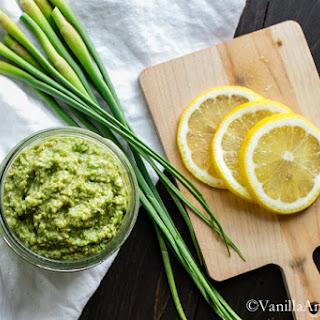 Vegan Garlic Scape Pesto Recipe