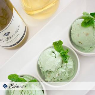 Pistachio Ice Cream with Estancia Chardonnay