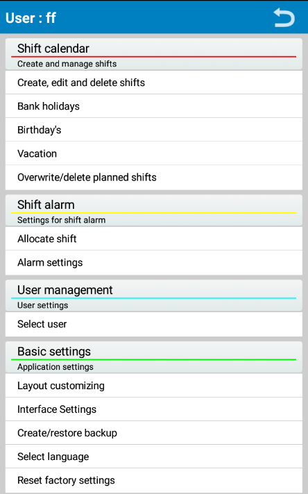 Shift Planer Lite- screenshot