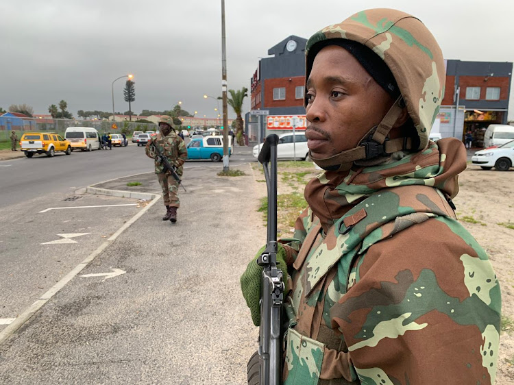 Soldiers made their debut on the streets of Manenberg and Hanover Park as Operation Prosper finally got under way in Cape Town on July 18 2019.