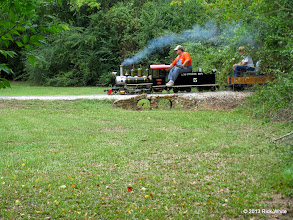 """Photo: 1146     Brent Courtney on his 3.75"""" scale Sweet Creek    HALS Public Run Day 2013-0921 RPW"""