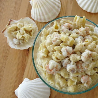 Gourmet Mac and Cheese with Rock Shrimp.