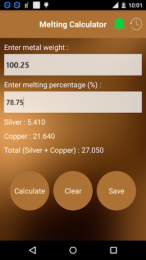 Gold Silver Melting Calculator