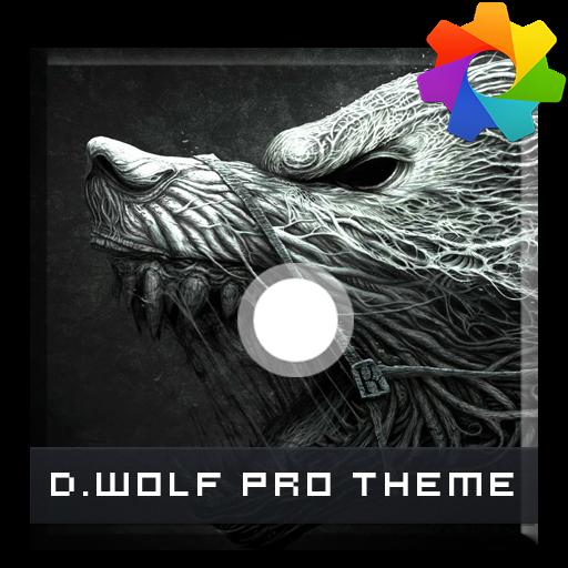 Dark Wolf Theme For Xperia