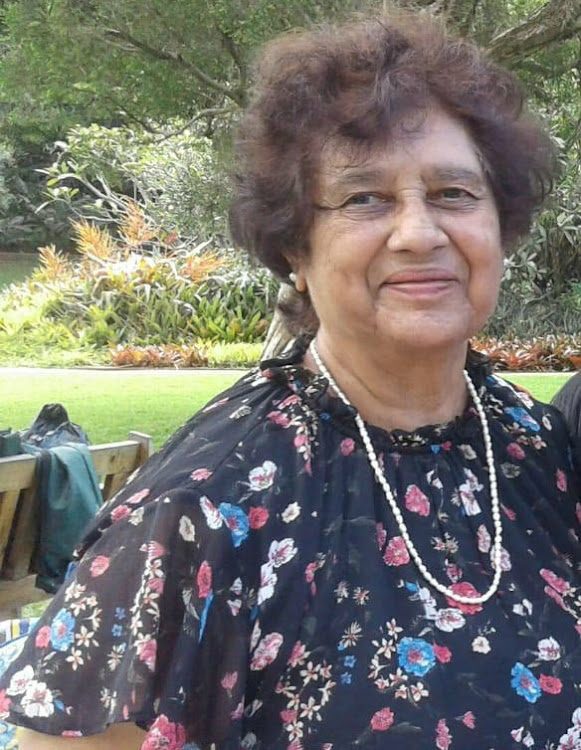 Former Durban principal Shirley James was found dead in her garage on Tuesday.