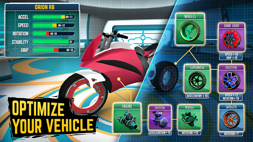 Gravity Rider: Extreme Balance Space Bike Racing - screenshot