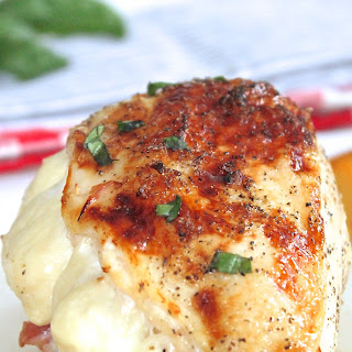 Peach Prosciutto Stuffed Chicken Breast with Queso de Freir