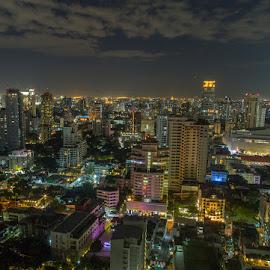 One night in Bangkok by Waldemar Dorhoi - City,  Street & Park  Night (  )