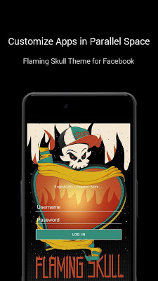 Flaming Skull Theme - screenshot