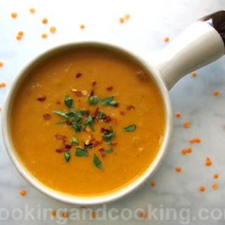 Red Lentil Coconut Soup.