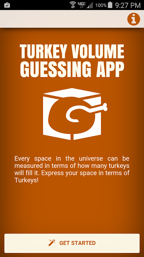 Turkey Volume Guessing App- screenshot