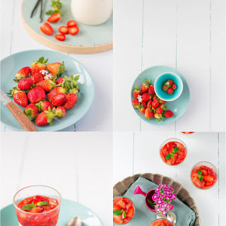 White Chocolate Mousse with Macerated Strawberries Recipe