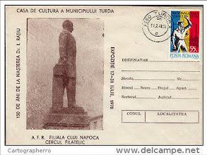 Photo: Dr. Ioan Ratiu - Carte postala - 1978 sursa http://www.delcampe.net/page/item/id,341746686,var,Romania-cover-1978-Doctor-I-Ratiu-statue-Casa-de-Cultura-Turda-Cluj,language,E.html