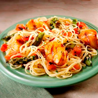 Spicy Cajun Scallops and Pasta