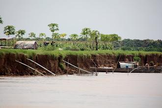 Photo: Year 2 Day 34 -  Lush Vegetation and Problem of Coastal Erosion on the Mekong
