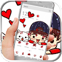 Anime Cartoon kitty Cool Boy icon