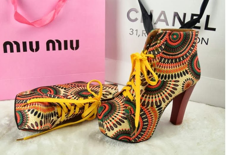 Photo: SHOE SN4022 Sun Flower – RM 70, SIZE: 35-40, MATERIAL: PU, HEIGHT: APPROX: ABOVE 8CM