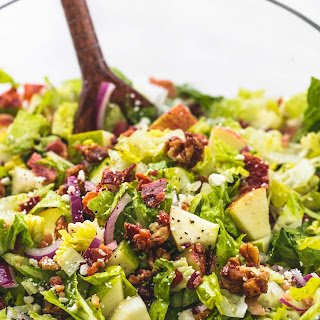 Chopped Autumn Salad with Apple Cider Dressing.