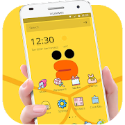 Download App Cartoon Yellow Cute Duck Theme