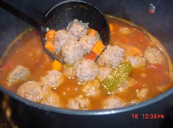Bonnie's Mexican Albondigas Soup (meatballs)