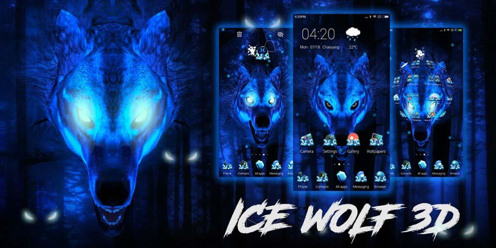Ice Wolf 3D Theme- screenshot