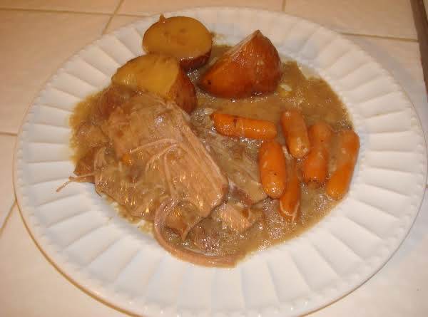 Now This Is Not A Picture Of My Pot Roast. I Borrowed It From The Net, But It Is Pretty Close To What Mine Looks Like. I Will Post My Own Picture Next Time I Make Pot Roast.