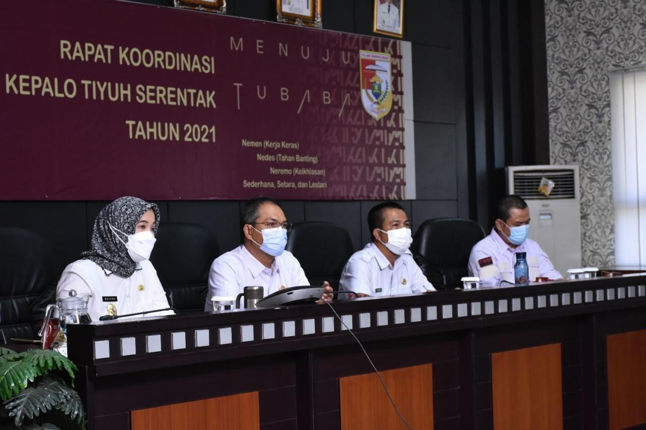 Rapat Koordinasi Pelaksanaan Pemilihan Kepalo Tiyuh Serentak Tahun 2021