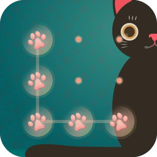 AppLock Theme Black Cat