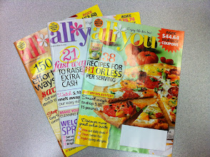 Photo: I used many props during my class, including All You magazine - a great source for coupons!