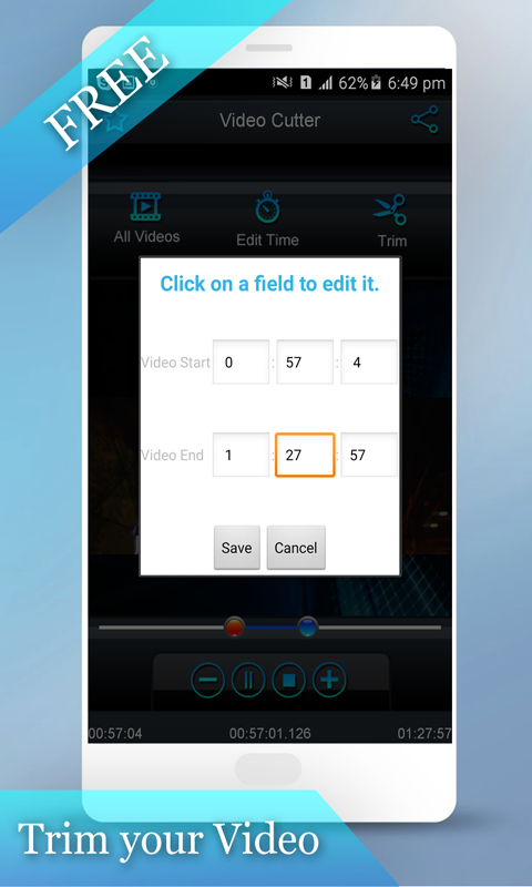 Video Cutter editor Free- screenshot