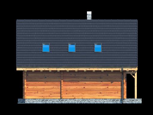 Bartne drewniane 6 - Elewacja tylna