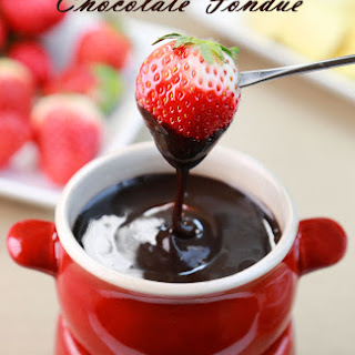 Easy Dairy Free Chocolate Fondue